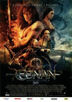 Przód ulotki filmu 'Conan Barbarzyńca'