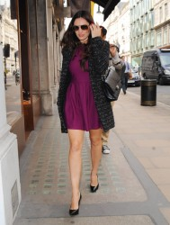 Kelly Brook - out in Mayfair 9/25/13