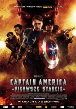 Przód ulotki filmu 'Captain America: Pierwsze Starcie'