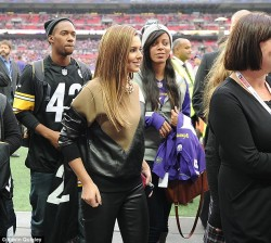 Cheryl Cole - Vikings vs Steelers at Wembley Stadium in London 9/29/13