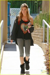 Ashley Tisdale - Going to the gym in LA 10/7/13