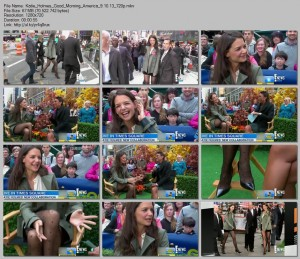 Katie Holmes | Good Morning America in NYC | 9.10.13 | 720p | leggy