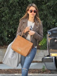 Jessica Alba - out in Brentwood 10/11/13