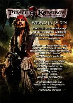 Tył ulotki filmu 'Piraci Z Karaibów: Na Nieznanych Wodach'