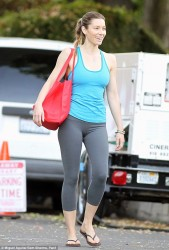 Jessica Biel - on the set of 'Shiva & May' in LA 10/16/13