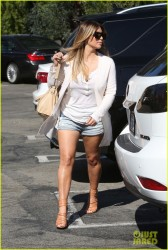 Kim Kardashian - Wearing shorts out in LA 10/17/13
