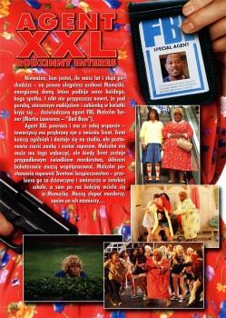 Tył ulotki filmu 'Agent XXL: Rodzinny Interes'