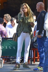 Bar Refaeli - out in NYC 10/18/13
