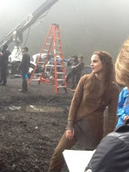 Emma Watson on the Set of Noah in Oyster Bay, Long Island - Autumn 2012