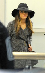 Lea Michele - at LAX Airport 10/20/13