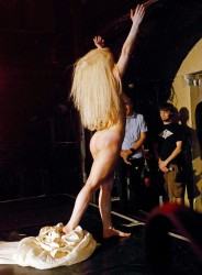 Lady Gaga Performing Naked at G-A-Y Nightclub in London on October 26, 2013