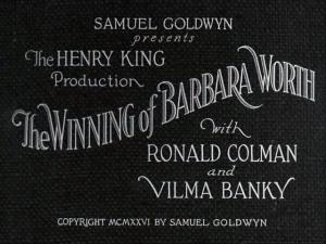 Download The Winning of Barbara Worth (1926) Xvid 1cd - Silent Western [DD Torrent