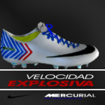 pes 2014 Mercurial X - White-Blue-Red by EHazard CR9 Edition