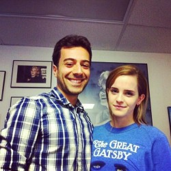 Emma Watson With a Filmmaker in New York City on August 15, 2013