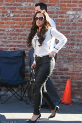 Leah Remini at Dancing With The Stars Practice in Los Angeles on November 14, 2013