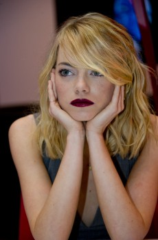 Emma Stone Amazing Spider Man 2 press conference Nov. 17