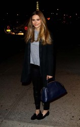 Elizabeth Olsen - arriving at The Daily Show with Jon Stewart in NYC 11/18/13