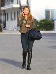 Ashley Benson - out in Santa Monica 11/22/13