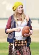 Teresa Palmer - Playing Flag Football in LA 11/23/13