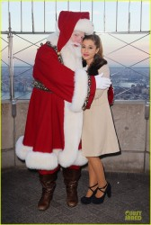 Ariana Grande -  Lighting the Empire State Building to honor the Macy�s Thanksgiving Day Parade Week 11/25/13