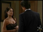 Kelly Monaco, cleavage in a tight dress, GH 11/26/13