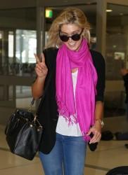 Delta Goodrem - at Sydney Airport 11/17/13