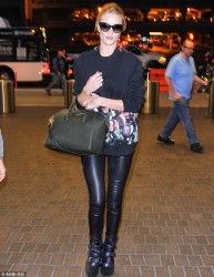 Rosie Huntington-Whiteley - at LAX Airport 11/30/13