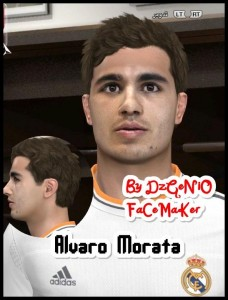 pes 2014 Alvaro Morata Face By DzGeNiO