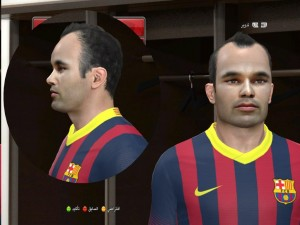 download Andres Iniesta PES2014 Face By DzGeNiO