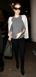 Rosie Huntington-Whiteley - at LAX Airport 12/4/13