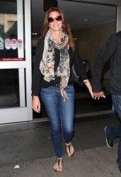 Cindy Crawford - at LAX Airport 12/5/13