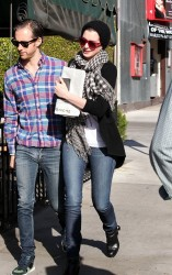 Anne Hathaway - out in LA 12/6/13