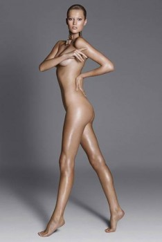 Toni Garrn - Photoshoot (Nude but covered) x 3