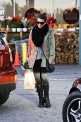 Lea Michele - at Whole Foods in West Hollywood 12/7/13