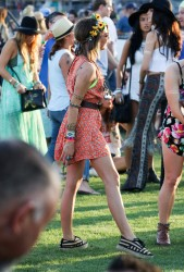 Sarah Hyland - Second day of the Coachella Music Festival held in the Empire Polo Club in Indio 4/11/15