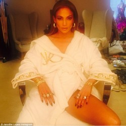 Jennifer Lopez - getting ready for MTV Movie Awards 2015
