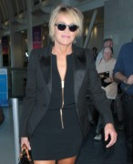 Sharon Stone wearing a black suit and spiked heels April 13-2015 x18