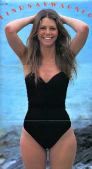Lindsay Wagner: Black One Piece - Camel-Toe - HQ x 1