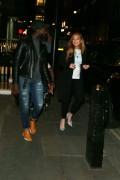 Lindsay Lohan seen outside Pescheria Mattiucci restaurant in Mayfair, London April 22-2015 x14