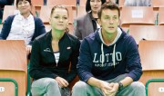 Agnieszka Radwanska with boyfriend WTA tennis tournament Katowice Open 2015 April 6-2015 x4