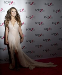 Elizabeth Hurley - The Breast Cancer Research Foundation 2015 Pink Carpet Party in NYC 4/30/15