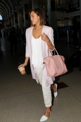 Jessica Alba - At LAX Airport 5/1/15
