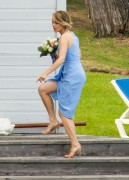 Rachel McAdams - at Her Sister's Wedding Ceremony