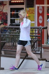 Elle Fanning - Out in shorts (bonus yoga pants) 6/15/15
