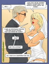 [Bride GangBang] Slut Wife, Cuckold Humiliation, SW, Wife Domination, Husband Slave, Female dominance, Hotwife, Adult Comics.