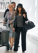 Salma Hayek - Arriving At Heathrow Airport in London (6/24/15)