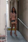 Christina Milian - Leggy Filming 'Christina Milian Turned Up' in LA (6/30/15)